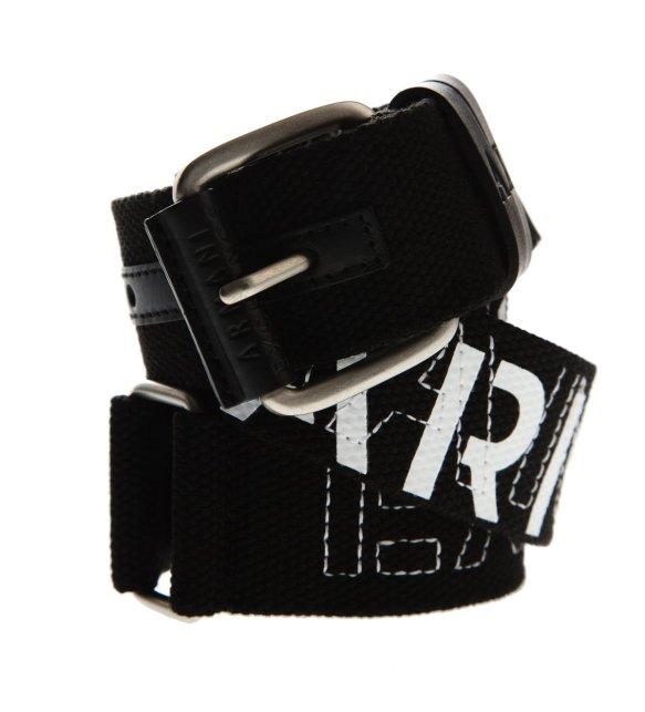 Armani Exchange Logo Web Belt Smoke Pearl ...